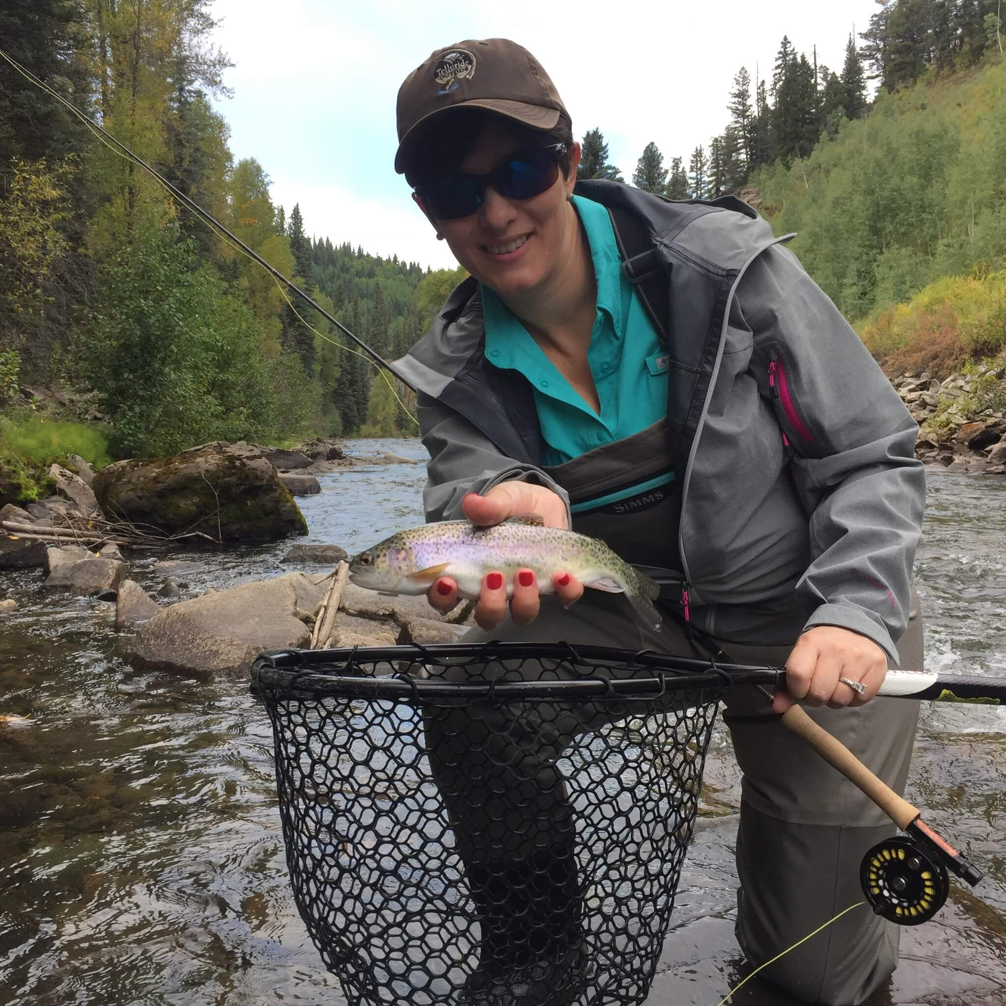 Trout caught telluride couture fly the couture fly for Telluride fly fishing